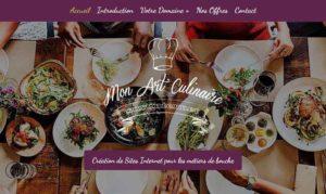 homepage mon art culinaire sur internet